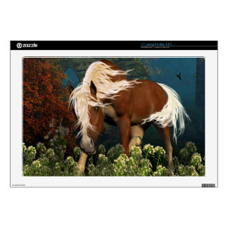 """Curious Horse on a meadow Decals For 17"""" Laptops"""