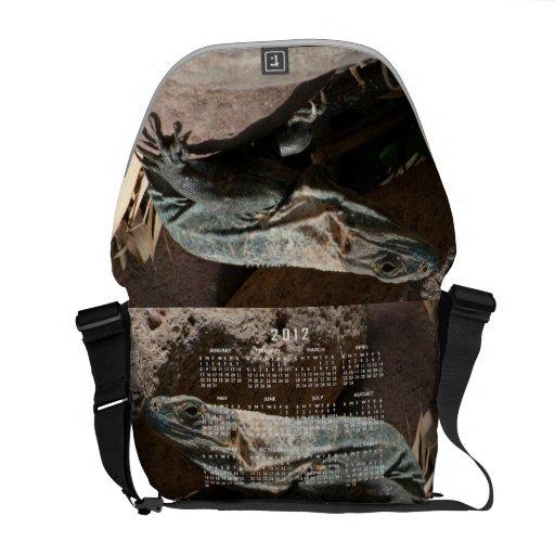Curious Iguana; 2012 Calendar Courier Bag