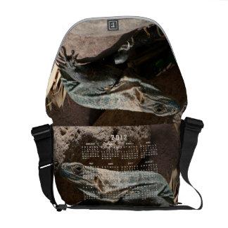 Curious Iguana; 2012 Calendar Messenger Bag