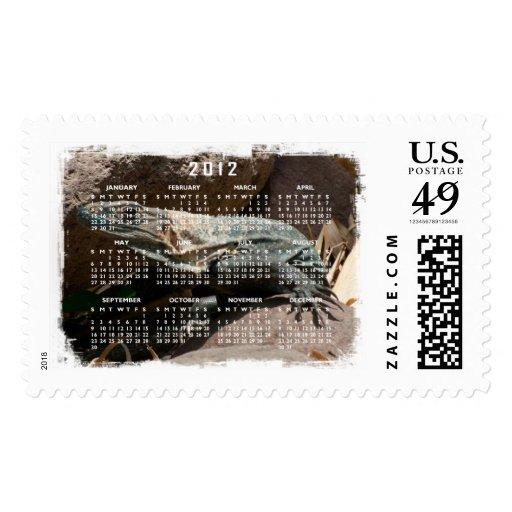 Curious Iguana; 2012 Calendar Postage