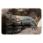 Curious Iguana; 2012 Calendar Rectangle Magnets