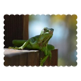 Curious Iguana 5x7 Paper Invitation Card