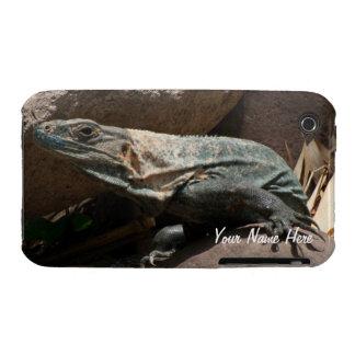 Curious Iguana; Customizable Case-Mate iPhone 3 Case