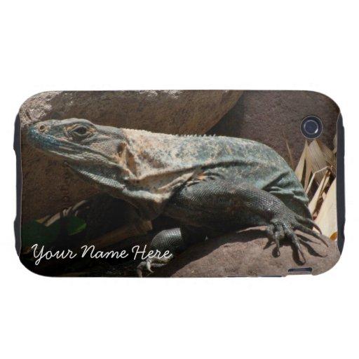 Curious Iguana; Customizable iPhone 3 Tough Case