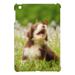 Case Savvy iPad Mini Glossy Finish Case with Collie Phone Cases design