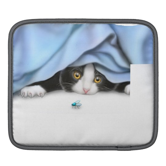 Curious Kitten Rickshaw iPad Sleeve