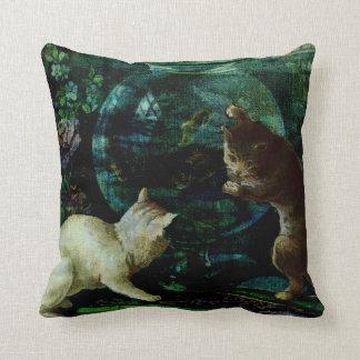 Curious Kittens Throw Pillow