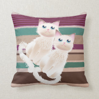 Curious Kittens Throw Pillow