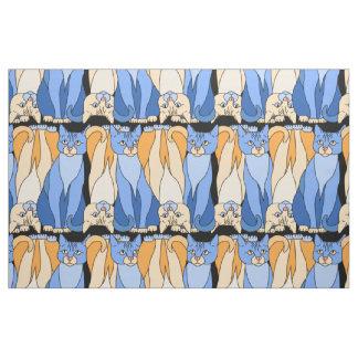 Curious Kitties Fabric (Lori Corbett)