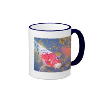 Curious Koi Ringer Coffee Mug