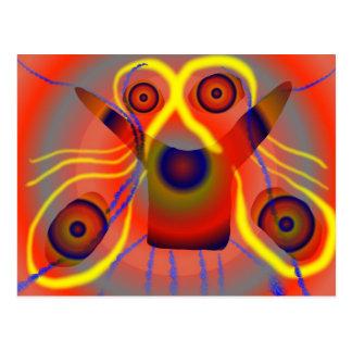 Curious lion dog postcard