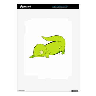 Curious lizard decal for iPad 2