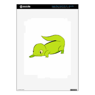 Curious lizard decals for iPad 3