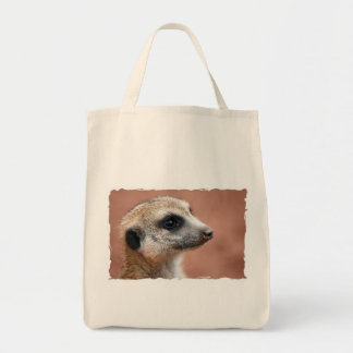 Curious Meerkat Grocery Tote Tote Bag