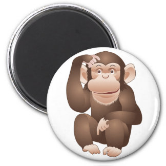 Curious Monkey 2 Inch Round Magnet