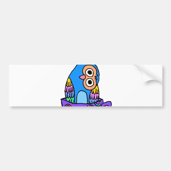 Curious Owl in a Teacup Bumper Sticker