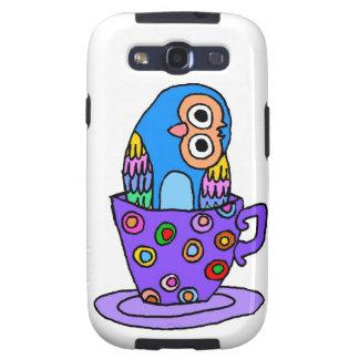 Curious Owl in a Teacup Galaxy S3 Case