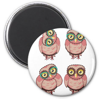 Curious Owl in Teal Glasses Magnet