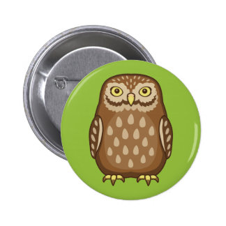 Curious Owl Staring 2 Inch Round Button