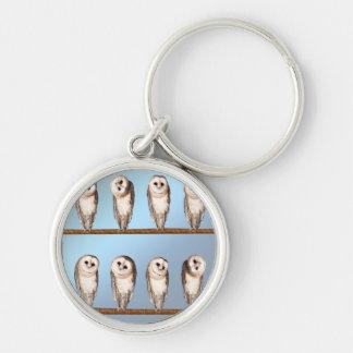Curious owls keychain