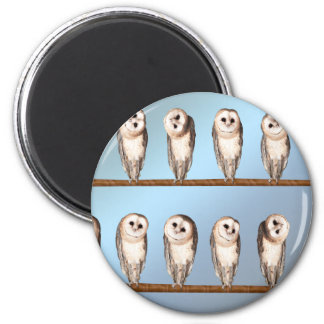 Curious owls magnet