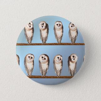 Curious owls pinback button