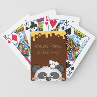 Curious Panda Custom Bicycle® Playing Cards