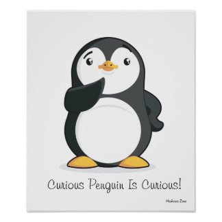 Curious Penguin Is Curious! Poster