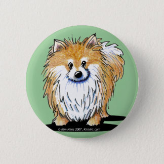 Curious Pomeranian Button