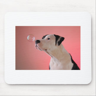 Curious pup mouse mat