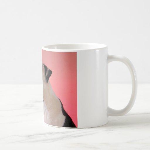 Curious pup coffee mugs