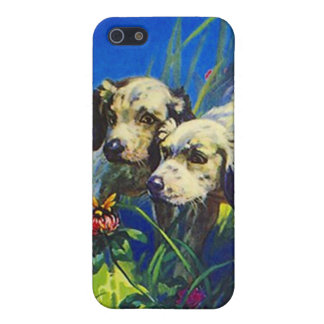 Curious Puppies English Setters iPhone 4 Case