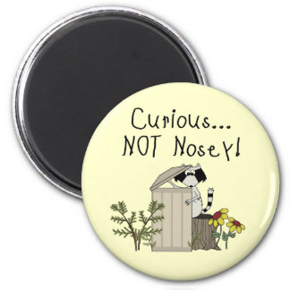 Curious Raccoon 2 Inch Round Magnet