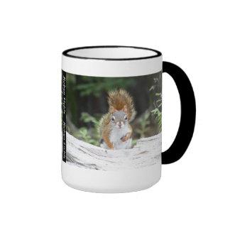 Curious Red Squirrel Mug