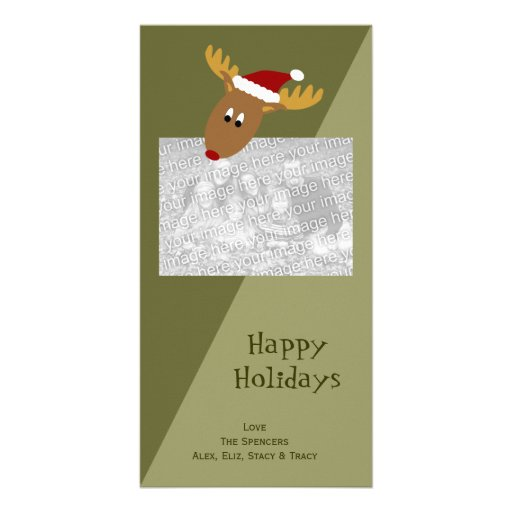 Curious Reindeer Holiday Photo Cards