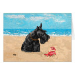 Curious Scottie at the Beach Card