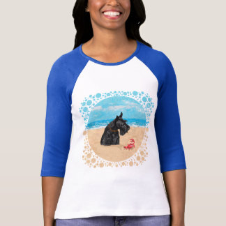 Curious Scottie at the Beach T-Shirt