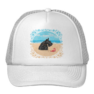 Curious Scottie at the Beach Trucker Hat
