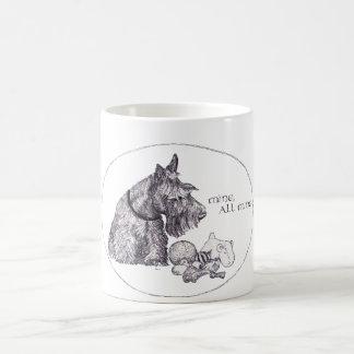 Curious Scottish Terrier Mine, all Mine Coffee Mug