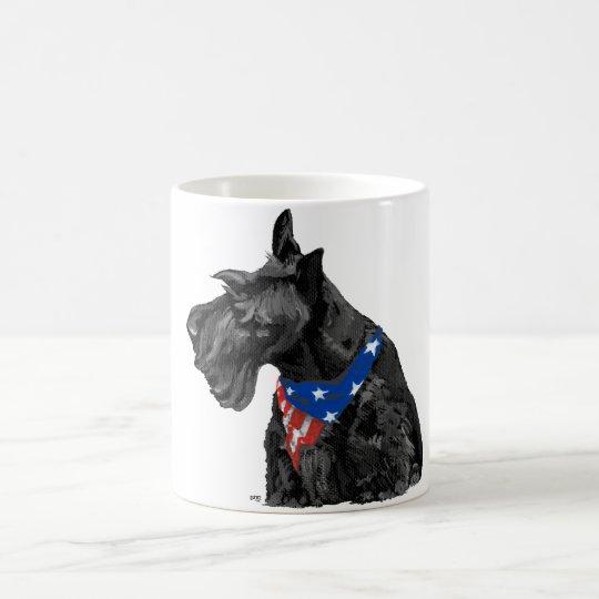 Curious Scottish Terrier Patriotic Coffee Mug