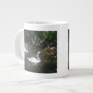 Curious Swans Large Coffee Mug