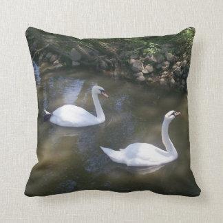 Curious Swans Pillow