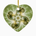 Curious Tentacles - Fractal Art Ceramic Ornament