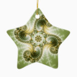 Curious Tentacles - Fractal Art Ceramic Ornament