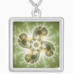 Curious Tentacles - Fractal Art Silver Plated Necklace