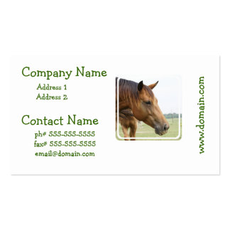 Curious Thoroughbred Business Card