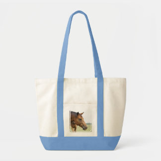 Curious Thoroughbred Canvas Tote Bag