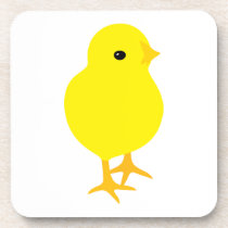 Curious Yellow Chick Beverage Coaster