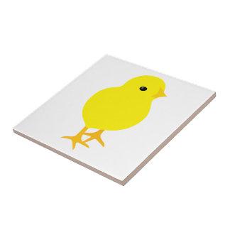 Curious Yellow Chick Ceramic Tiles