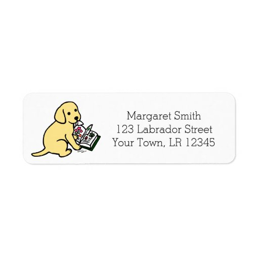 Curious Yellow Labrador Puppy Address Labels